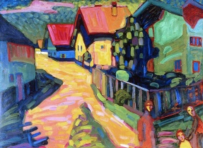 Murnau street with women, 1908, by Wassily Kandinsky