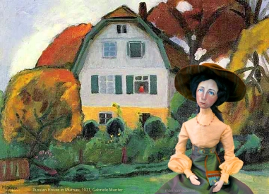 Gabriele Muse at Russian House in Murnau, 1931, painted by Gabriele Münter.