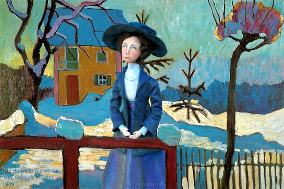 Muse by 'The House in the winter sun', 1909 Gabriele Münter.