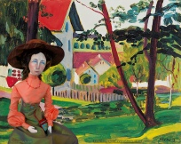 Muse in Linderborg, 1908, painting by Gabriele Münter.