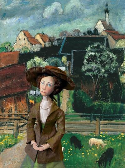 Muse in Murnau in May, 1924, Gabriele Munter