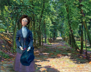 Muse of Gabriele in 'Alley in the Park of St. Claude', 1906, Gabriele Münter.