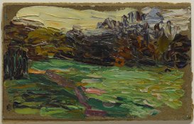 Nightfall in St. Cloud, by Gabriele Münter, 1906.