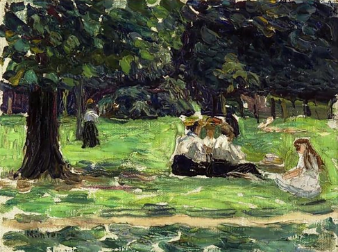 Picnic in the Park, Gabriele Münter 1906