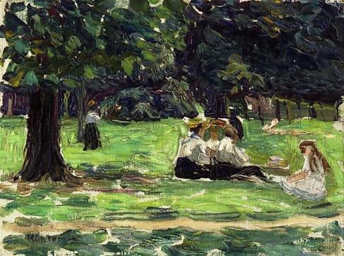 Picnic in the Park, Gabriele Münter 1906