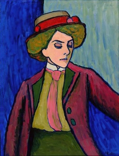 Portrait of a woman, 1909, Oil on canvas by Gabriele Münter.
