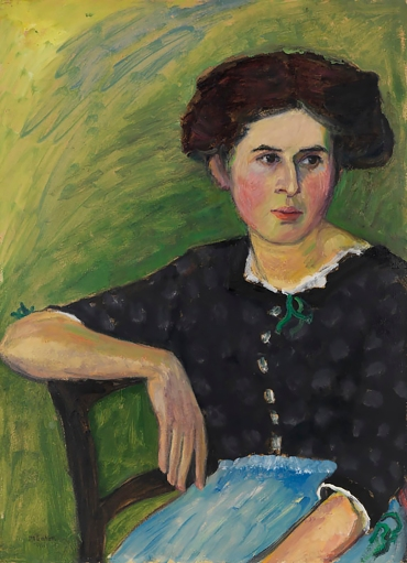 Portrait of a woman, 1911, by Gabriele Münter.