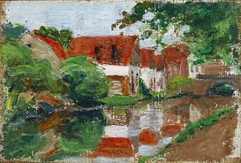 River near Kallmünz, Gabriele Münter, 1903.