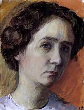 Self-portrait (pensive mood) Gabriele Münter, 1916.