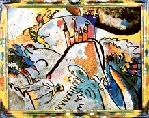 Small Pleasures, Kandinsky, 1913, glass painting.