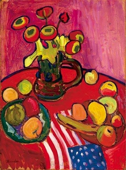 Still life Red , by Gabriele Münter 1909.
