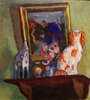 Still life with a statuette of the spotted dog, 1916, Gabriele Münter