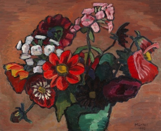 Still life with red flowers, 1938, Gabriele Münter