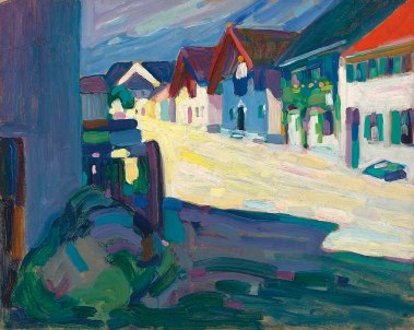Strasse Murnau, 1908, by Wassily Kandinsky.