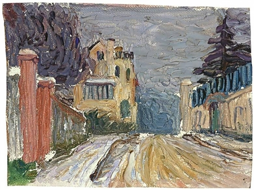 Street in Sèvres, painted by Gabriele Münter, 1906.