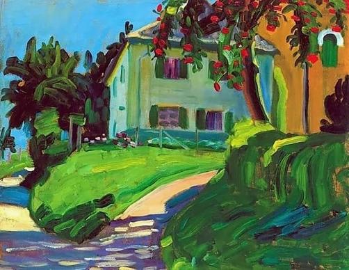 Summer House 1908, Gabriele Münter.