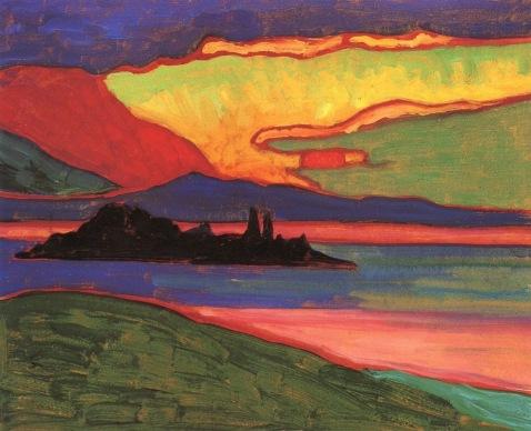 Sunset over Staffel, 1908, Gabriele Münter.