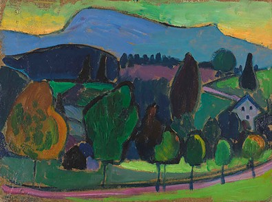 The Blue Mountain, by Gabriele Münter, 1908.