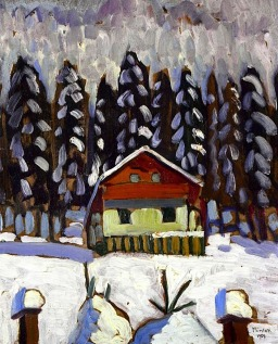 The cabin in the woods, 1909, Gabriele Münter.