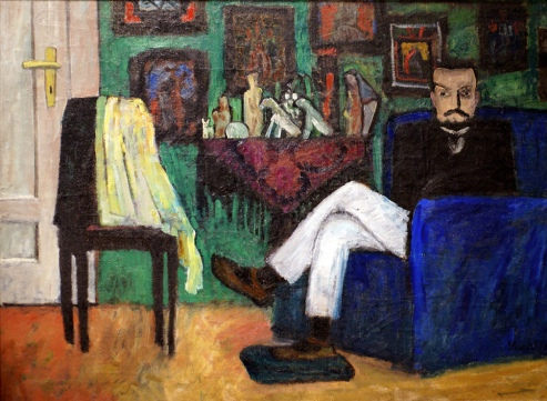 The man in the chair, Paul Klee. 1913, by Gabriele Münter.