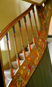 The Staircase in the Russian House, as decorated by Gabriele Münter and Wassily Kandinsky.