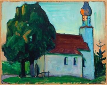 The Village Church, 1908, Gabriele Münter.