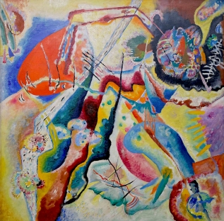 Bild mit rotem Fleck ( Painting with red Stain) W.Kandinsky, 1914.