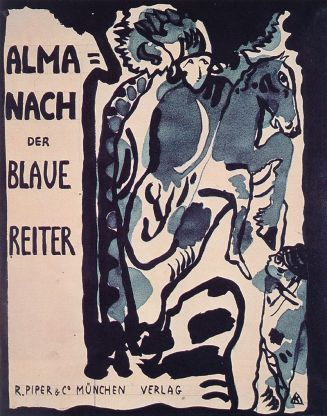 Wassily Kandinsky Cover for the Blue Rider almanac 1911.
