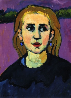 Woman in black, Gabriele Münter, 1909.