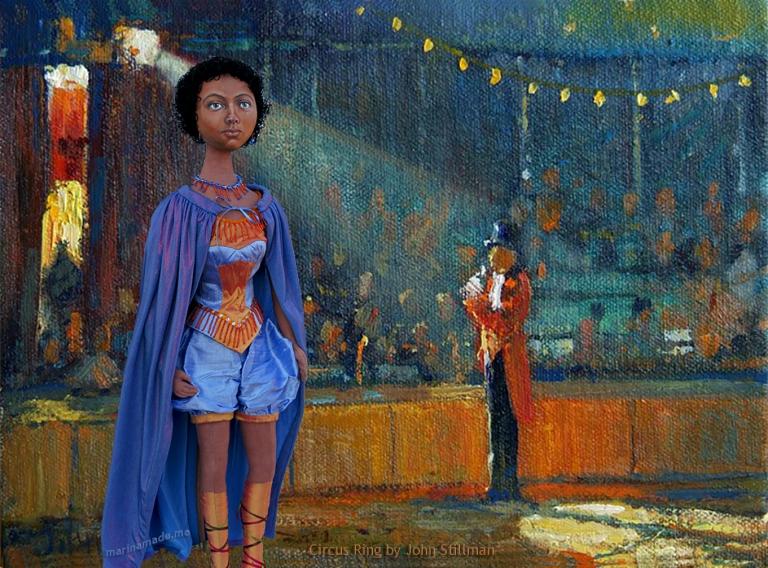 miss La La in the circus ring